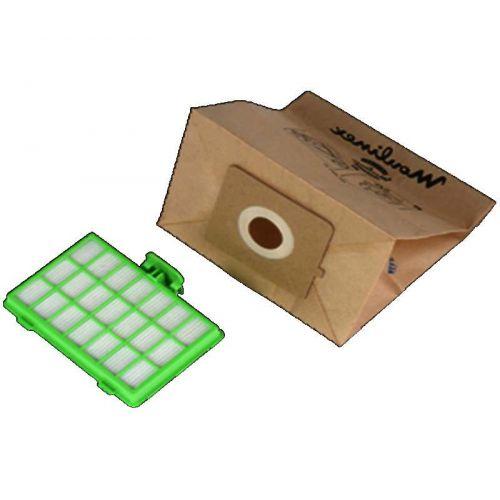 Sacs papier (x10) + Filtre hepa Aspirateur Zelio Aspirateur (MT000101)