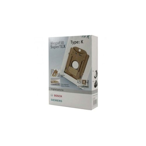 Sacs microfibre (x4) MegaFilt Type K Aspirateur Bosch/Siemens (00468265)