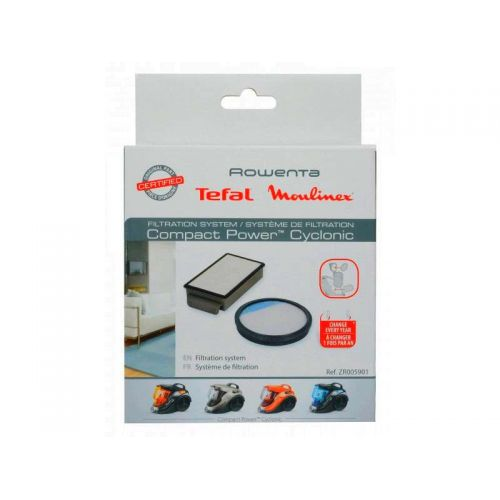 Kit filtres (x2) Compact Power Cyclonic Moulinex/Rowenta (ZR005921)