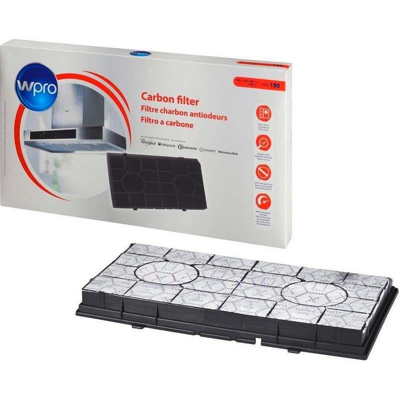 Filtre charbon type 190 hotte whirlpool 484000008578 - Hotte de cuisine avec filtre a charbon ...