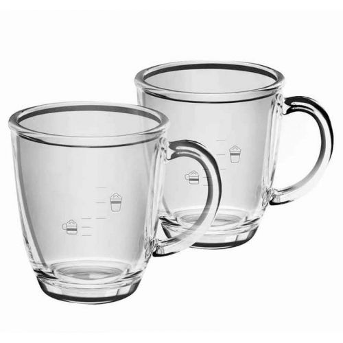 Tasses en verre (x2) Café & Cappuccino Krups...