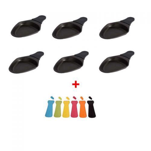 Coupelles ovales (x6) & Spatules (x6) Raclette Tefal (XA400102-6/S)