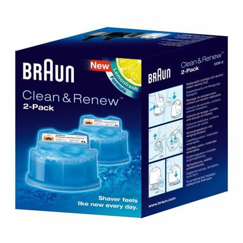 Cartouches (x2) Lotion Activator Clean & Renew Braun (CCR2)