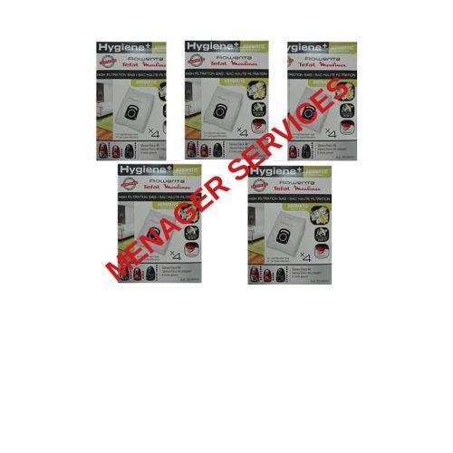 Lot 5 boites sacs microfibre Hygiène+ Aromatic CompactPower