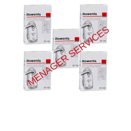 Lot de 5 boites sacs papier Dymbo Aspirateur Rowenta (ZR745-3)