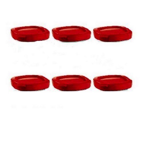 Couvercles (x6) Pots Yaourt rouge Multi délices