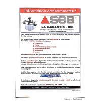 Joint Cocotte Minute Authentique Inox/Alu 8L Seb (790142)