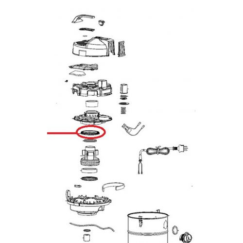 Joint supérieur moteur aspirateur Wet and Dry