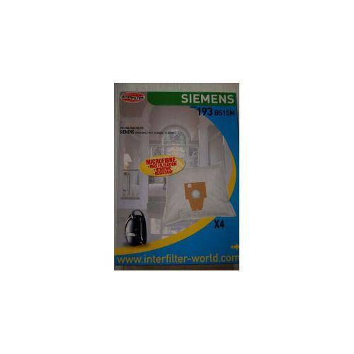 Sacs microfibre Aspirateur Bosch/Siemens Interfilter (193)