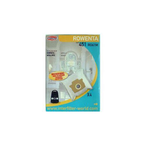 Sacs microfibre Aspirateur Rowenta/Moulinex...